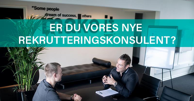 Er du vores nye rekrutterings-og salgskonsulent? Så læs mere om en spændende stilling i Glostrup her!